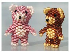 Free Beading Pattern: 3D Teddy Bear | Bead-Patterns