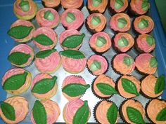 Chocolate leaves and acorn truffles for cupcake toppers. Chocolate molds by CK Products.