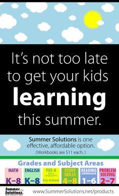 Prevent Summer Learning Loss!!  Order Summer Solutions!
