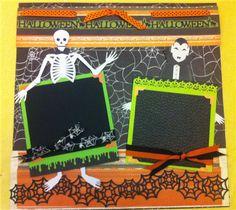 Halloween scrapbook page #cricut