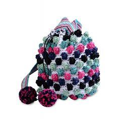 M Missoni Woven Bucket Bag - Small Fabric Bag - ShopBAZAAR