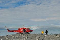 Helicopter at the top of the world! - Ice, Ice Baby by @devonone