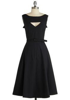 1950s Style Evening Dresses & Gowns The Evening Unfolds Dress in Black from ModCloth $69.99  #vintagedancer