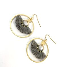 Plaque, Crochet, Creations, Drop Earrings, Coin, Jewelry, Pom Poms, Boucle D'oreille, Drop Earring