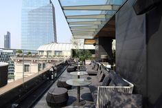alberto van stokkum's photographs showcased at milan's 'il duca' hotel Rooftop Bar, Hotel S, Nice View, Places To Travel, Milan, Cool Designs, Contemporary, Interior Design, Luxury