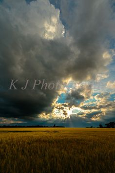 Stormy Sunset Skies Landscape, Bedfordshire England, Photography, images…