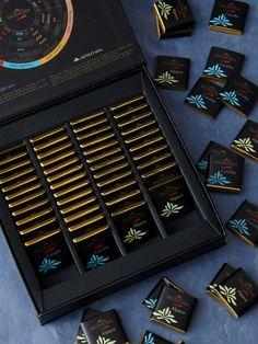 Valrhona Dark Chocolate Gift Box: Tasting box with 52 squares, $35.95 #Chocolate #Valrhona