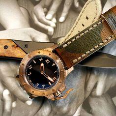 Create your own patina! Nethuns Bronze diver California Dial.