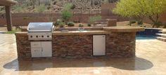 Patio Portfolio: Phoenix & Scottsdale Built In BBQ Grills | Desert Crest LLC