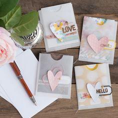 Heart Card Pocket Set | @jamiepate for @pinkpaislee