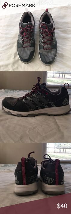 Adidas Galaxy Trail Running Shoe Gray and pink Shoes Athletic Shoes