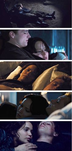 One thing that always bothered me about Peeta is that he wouldnt be asleep while Katniss is watching. he should of turned to her & said Im awake too! | Catching Fire