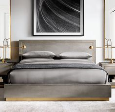 Nightstands, beds, side tables, cabinets or armchairs are some of the luxury bedroom furniture tips that you can find. Every detail matters when we are decorating our master bedroom, right? Cozy Bedroom, Bedroom Sets, Bedroom Apartment, Home Decor Bedroom, Master Bedroom, Master Suite, Bedding Sets, Mint Bedding, Bedding Storage