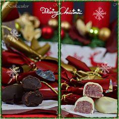 Narancsos-rumos trüffeles és meggyes-marcipános, fehércsokis szaloncukor Hungarian Food, Hungarian Recipes, Christmas Cooking, Cherry, Fruit, Sweet, Gifts, Candy, Christmas Kitchen