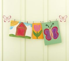 Butterfly Art Cable System at Pottery Barn...hang up drawings in K room