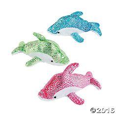 Plush Sparkle Dolphins (1DZ)