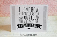 seven thirty three - - - a creative blog: Snarky (in a fun way) Mother's Day Cards