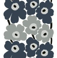 An oil cloth with the classic Unikko design in a lovely grey color from Marimekko!