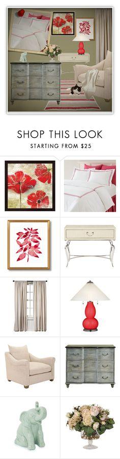"""Untitled #599"" by colonae ❤ liked on Polyvore featuring interior, interiors, interior design, home, home decor, interior decorating, Pine Cone Hill, Bernhardt, Safavieh and Burke Decor"
