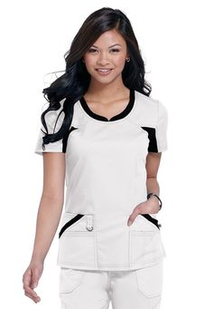 Dickies 82705 Performance System Scrub Top for Women by Infectious Medical Scrubs Australia Scrubs Outfit, Scrubs Uniform, Denim Skater Dress, Scrubs Pattern, Stylish Scrubs, Cute Scrubs, Womens Scrubs, Medical Scrubs, Professional Outfits