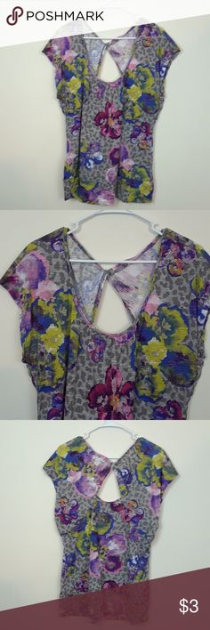 ONE STEP UP 3X TWIST BACK TOP Size 3X Polyester and rayon One Step Up Tops Blouses