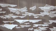 Leaf Fall by Haberdashery is a delicately suspended sculpture which uses preconfigured arrays of leaves integrated into a simple ceiling plate. Pendant Lamp, Pendant Lighting, Chandelier, Function Room, May Designs, Modern Lighting, Luxury Lighting, Interior Lighting, Lighting Ideas