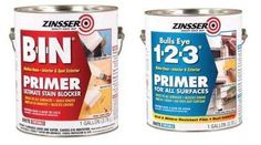 k if you want a 'professional' finish to your furniture you will need Zinsser BIN/123 for your primer - if the laminate furniture is fairly good condition then there is no need to sand it because the Zinsser primer will stick to anything.