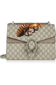 @ Gucci|Dionysus medium embroidered coated canvas and suede shoulder bag| @ my handbags