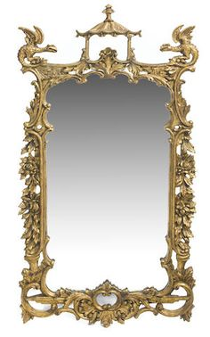 George III style carved giltwood mirror.