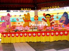 decoracion fiesta winnie pooh - Buscar con Google