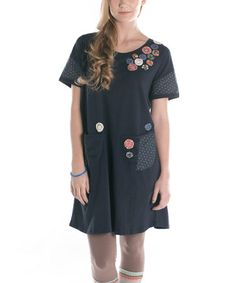 Another great find on #zulily! Navy Petals Tunic by Ribbonwork Clothing #zulilyfinds