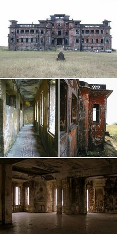 long corridors, grand staircases and ornate tiling are your thing, the abandoned Bokor Palace Hotel Casino might speak to you. Located in an abandoned French resort town in southern Cambodia called Bokor Hill Station, the hotel has been disused for decad Abandoned Buildings, Abandoned Mansions, Old Buildings, Abandoned Places, Spooky Places, Haunted Places, Beautiful Buildings, Beautiful Places, Mansion Homes