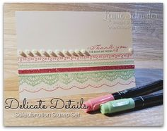 Welcome to another What Will You Stamp Challenge. This week we are all designing with the very lovely Delicate Details Saleabration Stamp Set … This set is just so pretty and I love to create…