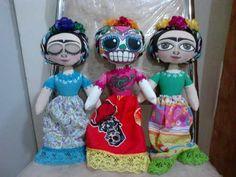 Obras Arte En Tela, Muñecas Típicas Doll Frida Kahlo
