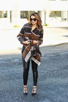 Gumboot Glam: Check Print Coat, Winter Outfit ideas, Winter Glam, Chicwish, BipAndBop, CheekyPeach