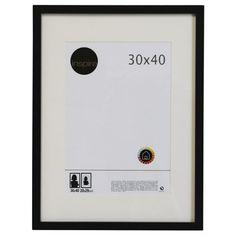 Cadre Lario, 30 x 40 cm, noir-noir n°0 (Subrosa)