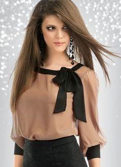 Modelo de blusa con molo