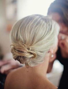 Formal Hairstyles for Medium Length Hair - Low Bun Hairdo for Shoulder Length Blonde Hair.  Stunning Formal Party Look
