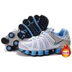 e579cfc7f82709 Shop Women s Nike Shox TL Shoes White Sky Blue Silver Super Deals black