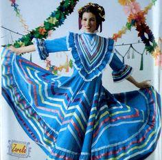 Baile Folklorico Dress Pattern Simplicity 3858