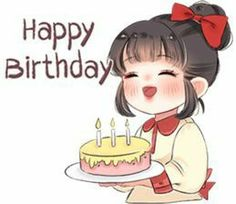 Cute Love Pictures, Cute Cartoon Pictures, Cute Love Gif, Cartoon Pics, Happy Birthday Quotes For Friends, Happy Birthday Girls, Love Cartoon Couple, Cute Cartoon Girl, Cute Love Cartoons