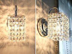 NEW STEEL CRYSTAL LAMP WALL SCONCE LIGHT MODERN MOOD GLASS PENDANT CHANDELIER