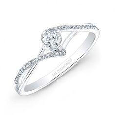 classic, elegant engagement ring . 14k White Gold