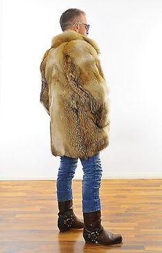 Men's fur coat Herren PELZ MANTEL Coyote Kojote PELLICCIA  FOURURRE manteau Piel