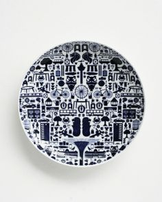Porcelain plate, One Singapore  SUPERMAMA, Designed by Pearlyn Sim and Lim Ting #haystakt