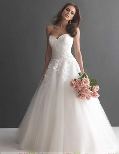 Don't forget that while you were fantasizing about your wedding day, your fiancé has been dreaming of his bride-to-be! We think an Allure Romance.The post All Eyes on You in an Allure Romance Wedding Dress appeared first on MODwedding. Lace Wedding Dress, Classic Wedding Dress, Tulle Wedding, Bridal Wedding Dresses, Wedding Dress Styles, Dream Wedding Dresses, Wedding Attire, Bridal Style, Ivory Wedding