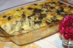 Miremirc - Ficatei cu cartofi la cuptor Quiche, Macaroni And Cheese, Meat, Chicken, Breakfast, Ethnic Recipes, Food, Chef Recipes, Cooking
