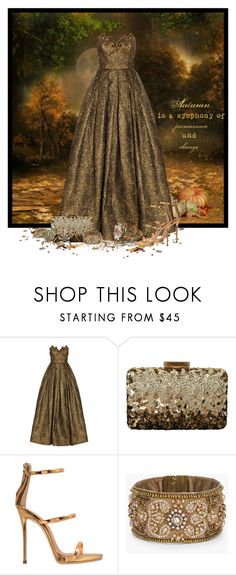 """""""Autumn's Symphony"""" by majezy ❤ liked on Polyvore featuring Andrew Gn, Oscar de la Renta, Giuseppe Zanotti, Chico's and Gucci"""