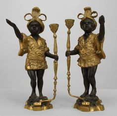Italian Neo-classic accessories candlestick bronze