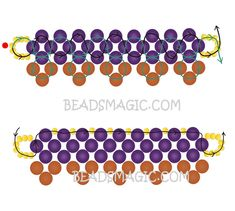 Free pattern for necklace Naomi | Beads Magic - 2--U need Seed beads 11/0 and Pearl beads 4mm